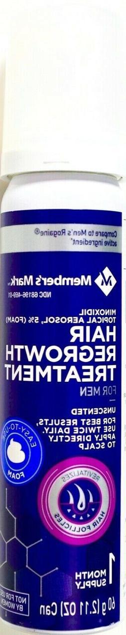 Member's Mark 5% Minoxidil Topical Foam Aerosol Hair Regrowt