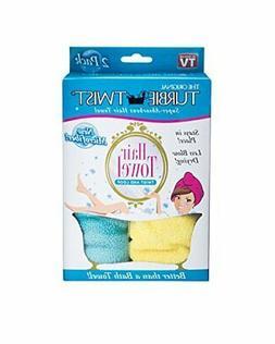 Turbie Twist Microfiber Hair Towel  Yellow-Aqua