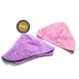 Isabella Dora Microfiber Hair Towel – Securing Button, Fas