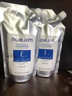 MILBON Pro Smooth Hair Treatment No,1  & No, 3 Coarse Hair,