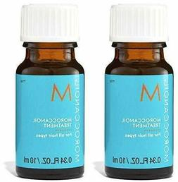 New LOT 2 Moroccan Oil Hair Treatment Deluxe Travel Size .34