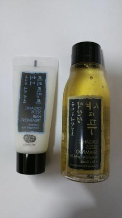 Whamisa Organic Seeds Hair Shampoo for Dry Scalp 60ml + Hair