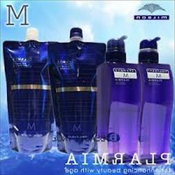 Milbon Prageia Hair Serum Shampoo M 400ml Treatment M 400g R