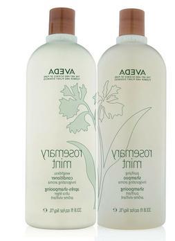Aveda rosemary mint shampoo and conditioner 33.8 oz / 1 lite