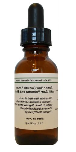 Super Hair Growth Serum with Saw Palmetto, Biotin,  Unisex H