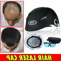 US 64/128 Diodes Laser Cap Black Hair Loss Treatment LLLT Ha