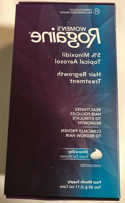 Rogaine Women Hair Regrowth Treatment  Foam 4 Month Supply,
